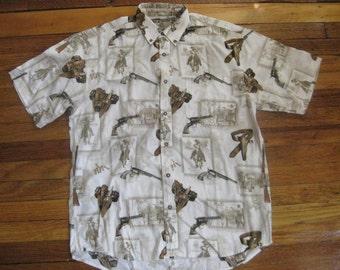 Men's Vintage Cowboy Western Shirt