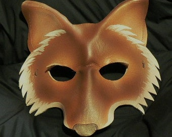 Fox Leather Mask  Mr or Mrs Fox