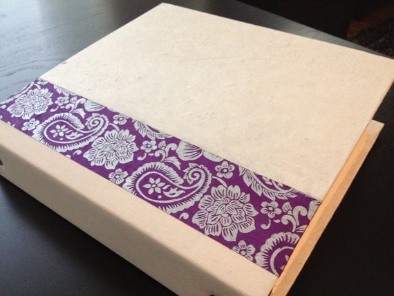 Wedding Planning Binder with Pocketed Tabs (ivory & purple)