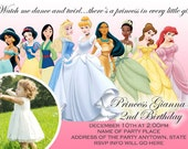 Disney Princess Invitation Digital File 4X6 or 5X7