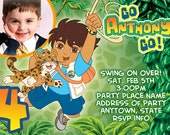 Go Diego Go Invitation Digital File 4X6 or 5X7
