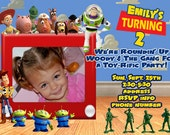 Toy Story Invitation Digital File 4X6 or 5X7