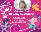 MLP My Little Pony Invitation Digital File 4X6 or 5X7