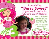 Strawberry Shortcake Invitation Digital File 4X6 or 5X7