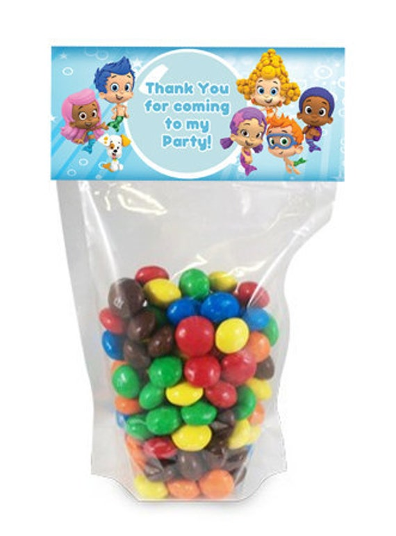 Bubble Guppies Favor Bag Toppers Digital Files Print as many as you need