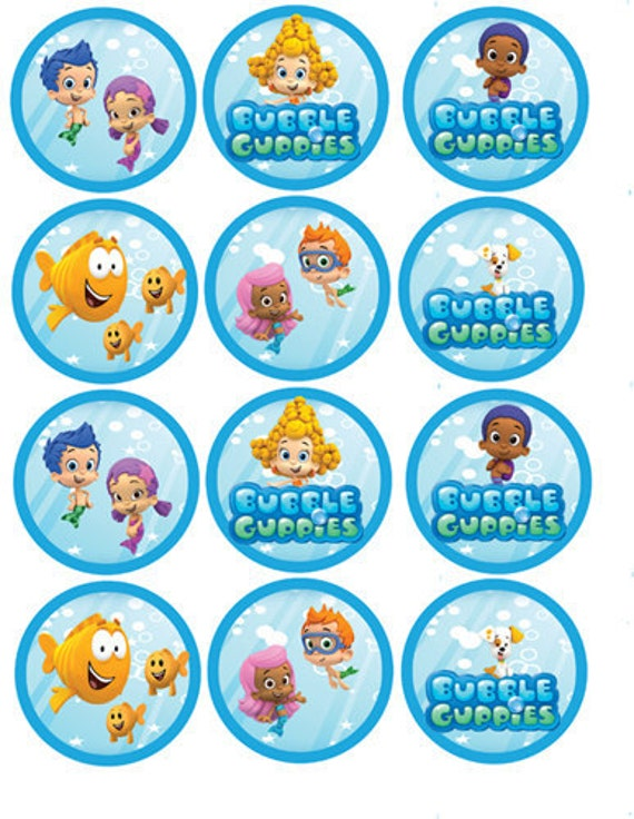 It is a graphic of Clean Free Bubble Guppies Printables