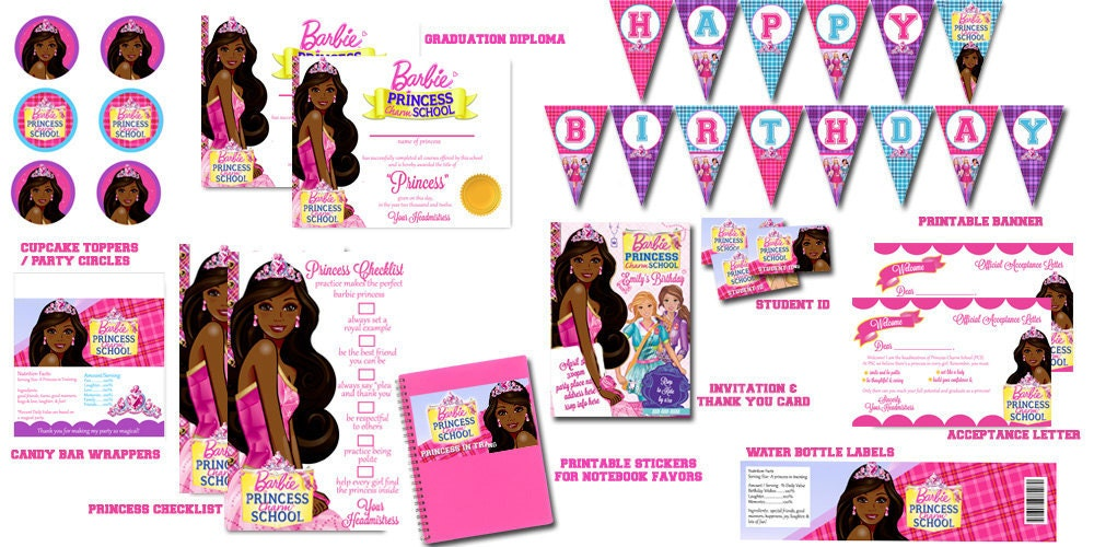 African american barbie princess charm school by - African american party ideas ...