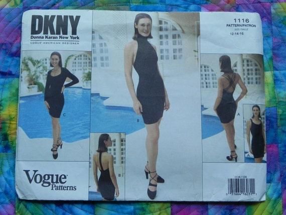Vogue Designer Pattern 1116 Donna Karan Sz 12-14-16