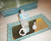 Vintage Mirrored Jewelry Tray - Shabby Chic