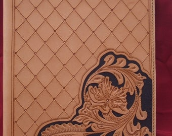 Hand Tooled Leather 3-Ring Binder