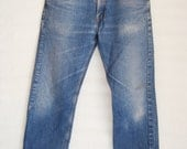 Vintage Levi's 505 Denim Blue Jeans Men's Made in the USA 31 x 32