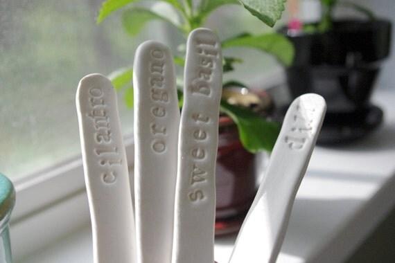 Custom Handmade Garden Markers - Set of 4