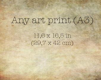 Fine art print, watercolor, digital, print, custom size, landscape, foliage, trees, giclee