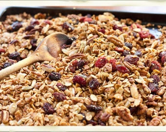 Healthy Homemade Coconut Granola Cereal or Yogurt Topping - PDF file