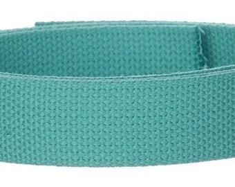 Cotton Webbing 5 yards Aqua Blue Bag Strap Key Fobs Purse Handle Leash