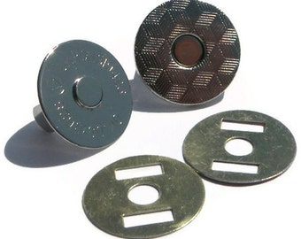 Magnetic Snap 10 sets 18mm  2 mm thick Nickel Plated
