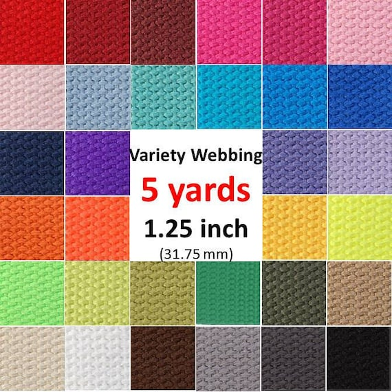 5 yards Cotton Webbing You Pick Colors Key Fobs Belts Purse Bag Straps Leash