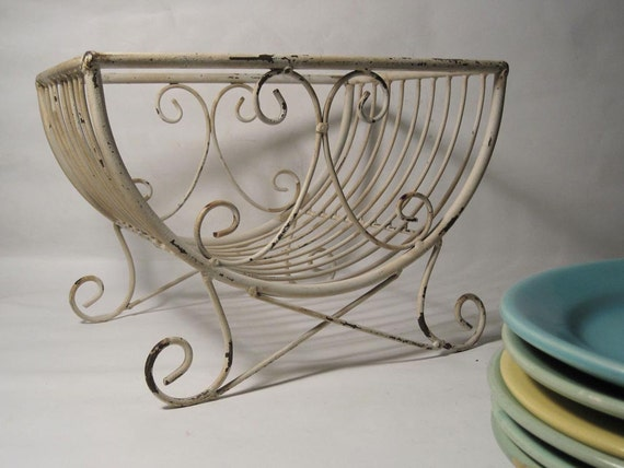 antique french wire plate rack