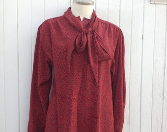 Sophisticated Red Blouse
