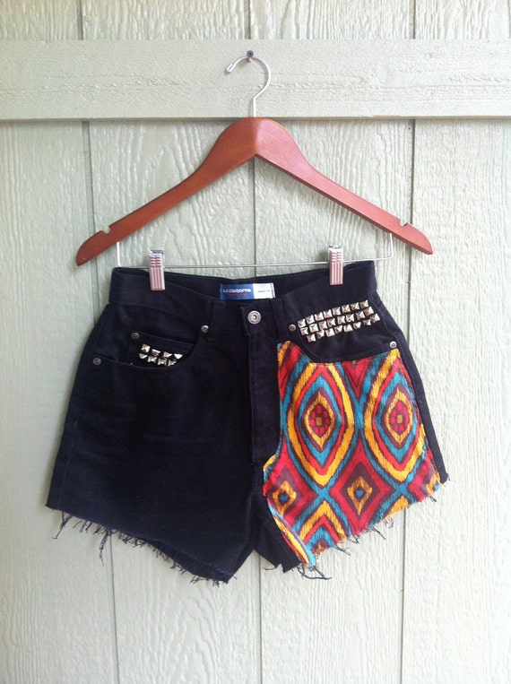 Reworked.Highwaisted.Studded Vintage Shorts