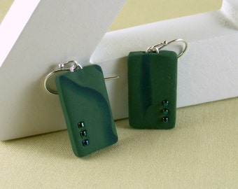 Polymer clay earrings - green and blue (GB-R-3B-1)