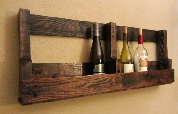 items similar to recycled pallet wine rack on etsy
