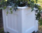 Planter, Outdoor, Planter, Shabby Chic White Planter