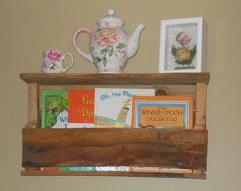 Pallet shelf, Pallet book shelf, Recaimed Shelf