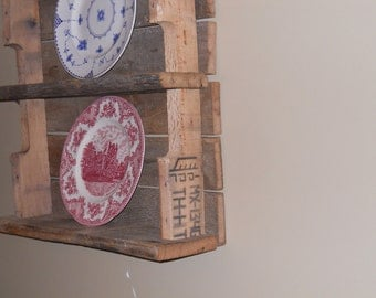Pallet Shelf, Plate shelf, Reclaimed wood Shelf,