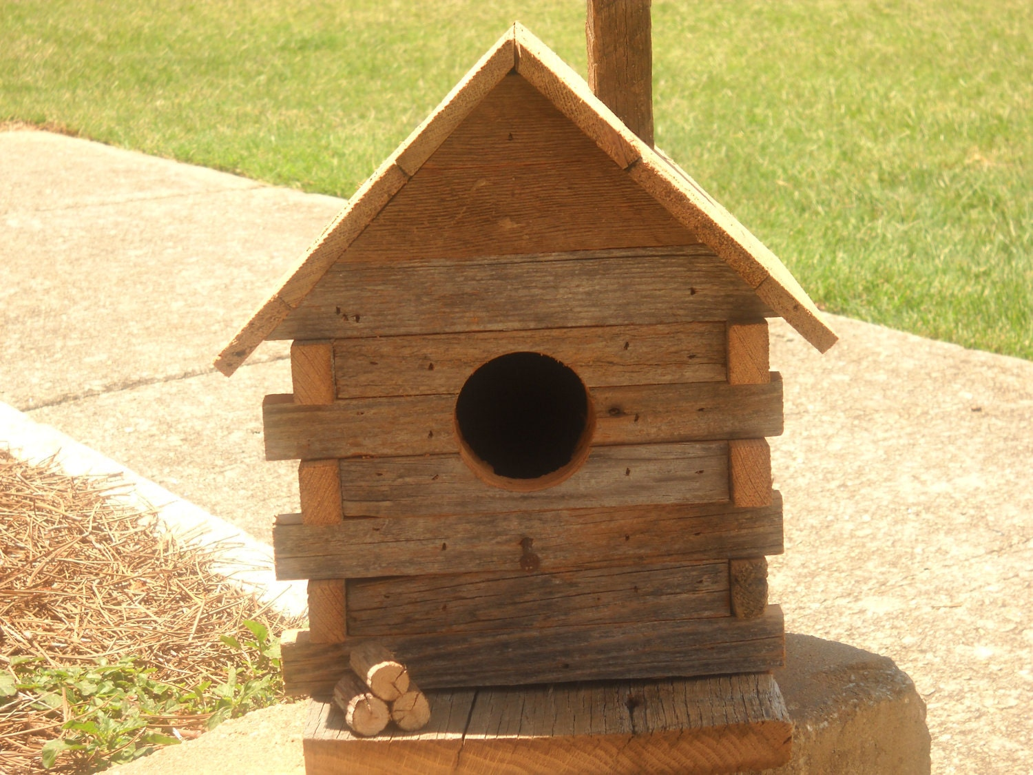 rustic log cabin birdhouses - photo #25