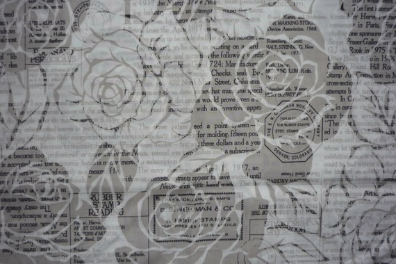 LAST ONE -- Yuwa Kei -- Newspaper & Roses -- grey - FQ