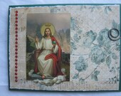 Catholic Christ the King Handmade Card Green