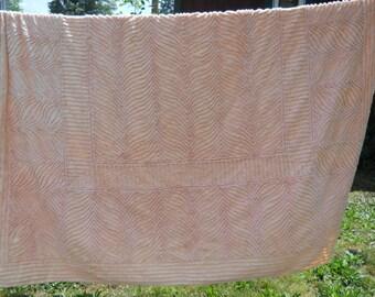 Peach Chenille Bedspread