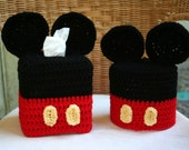 Disney Mickey Mouse Crochet Pattern Set - Tissue Box and Toilet Paper Covers .PDF Pattern Only!