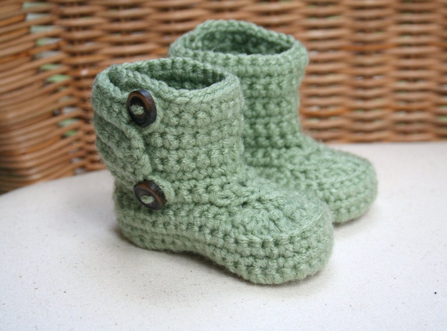 Crochet Wrap Around Button Baby Boots Pattern : Crochet Wrap Baby Booties with buttons Baby Boots Various