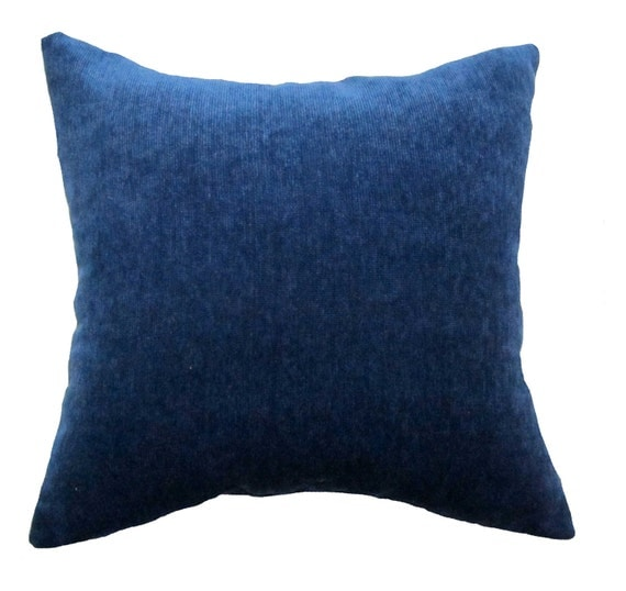Navy Blue Throw Pillow Covers : Items similar to 17x17 Navy Blue Suede Decorative Throw Pillow Cover on Etsy