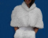 Faux fur sheep wedding jacket and muff 29.99