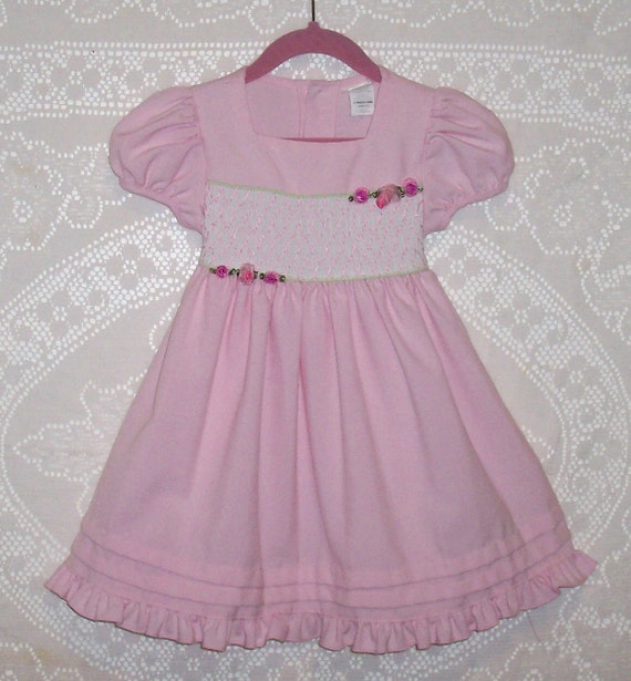 Vintage Little Girls' Dress - Size 3 Toddler - Spring - Summer