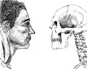 """Pen and Ink """"Stare Death in the Face"""" Fine Art Print"""