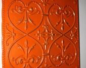 Orange Metal Wall Decor / Shabby Chic / Home Decor / Outdoor / Gift Ideas Under 40, 45, 50