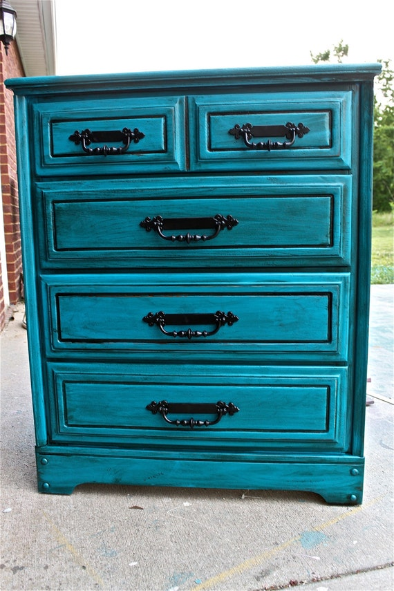 bondi blue vintage chest bedroom furniture by aquaxpressions