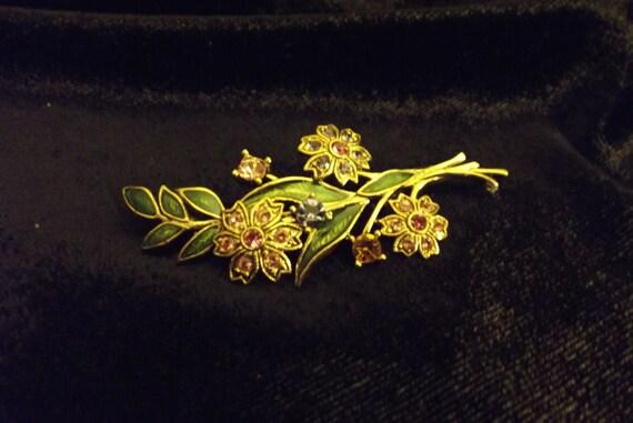 Vintage Spring Summer Flower Brooch Colors of Spring Summer