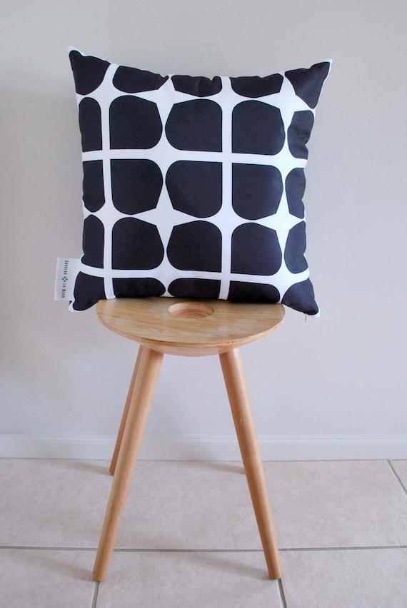DESIGNER SECONDS SALE - Black Gem Cushion Cover