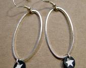 Starry night earrings, sterling silver findings