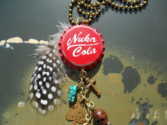 Nuka Cola Classic Bottle Cap Charm Necklace - Fallout Inspired - Post-Apocalyptic - The Original