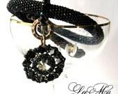 "Bead  Crochet Necklace ""The longest night"""