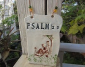Psalm 23 Ceramic Wall Plaque