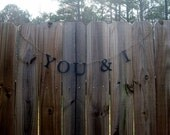 You & I wedding photo banner