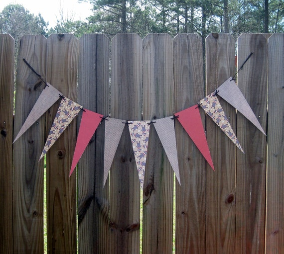 Sock Monkey and Burlap Party Banner
