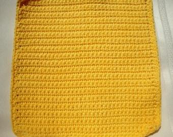 Yellow Crochet Dish Rags